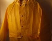 yellow medium pvc raincoat