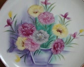 Handpainted Floral Plate
