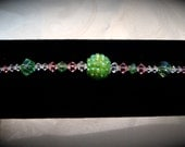 Pink and Green Swarovski Bracelet