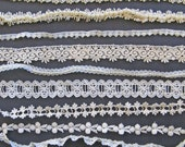 Elegant  Ivory Vintage Lace Trim Mixed Lot  Venetian Lace Braid