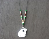 Oyster Shell and Bead Necklace