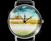 Original Hand-painted Watch - Gull river - Miniature painting
