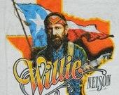 1984 WILLIE NELSON TOUR Shirt Vintage
