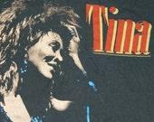 1985 TINA TURNER Tour T Shirt Original