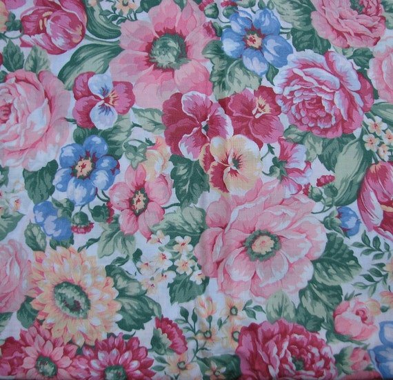 Cotton farbric Shabby Chic Floral Fabric   3  3/4 yards