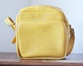 Mustard Yellow Shoulder Bag - Vintage Luggage