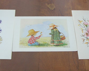 Greeting Cards:  3 from Original mouthpainted by B PEARDON AND , H.KOSCHINSKI
