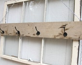 Reclaimed Natural Wood Wall Rack