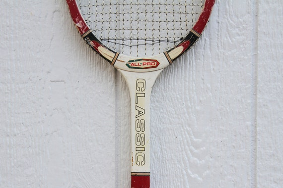 Vintage Wooden All Pro Classic Tennis Racket