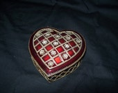Heart shaped jewelry box