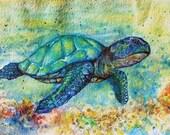 Cyber Monday Sale ---SeaTurtle--- Watercolor