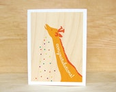 Congratulations Giraffe Greeting Card
