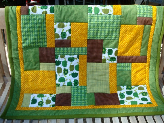 Reserved for Jody -  Turtle Tortoise Block Baby Toddler Quilt