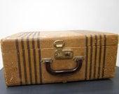 Vintage Wood Suitcase Travel Luggage