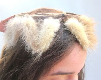 Vintage Couture Hat Fur Facinator Millinery Supplies