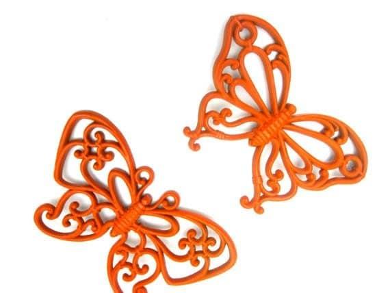 Butterfly Spring Orange Set