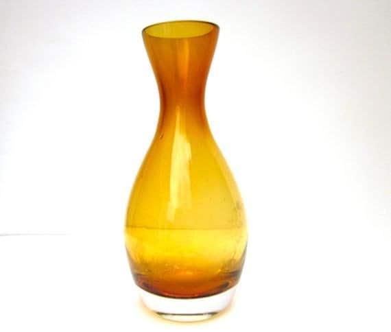 Autumn Mustard Yellow Glass Vase