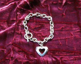 Bracelet Silver Heart Charm