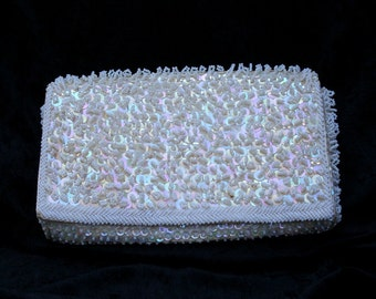 Clutch Purse Beads and Sequins 1960s