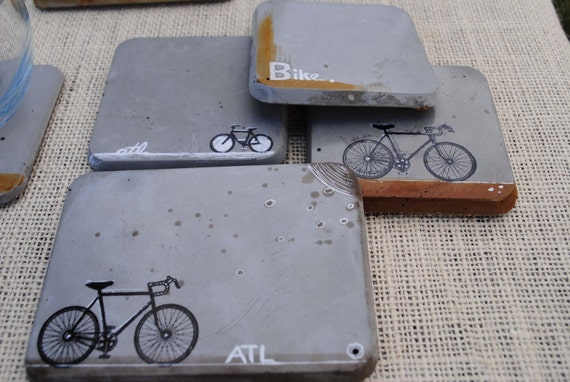 Concrete coasters bike series for How to make concrete coasters