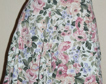 Vintage Mini Skirt by Decked Out Floral Juniors Med / Lg   80s  90s  Shabby Chic