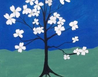 Original Dogwood Acrylic Painting by Noted Artist Kimberly Rowlett