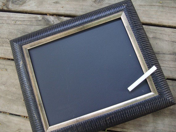 Upcycled shabby chic / rustic chalkboard frame - photo prop
