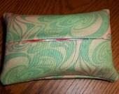 Hippie Chic Green Purse Tissue Cozy/Holder