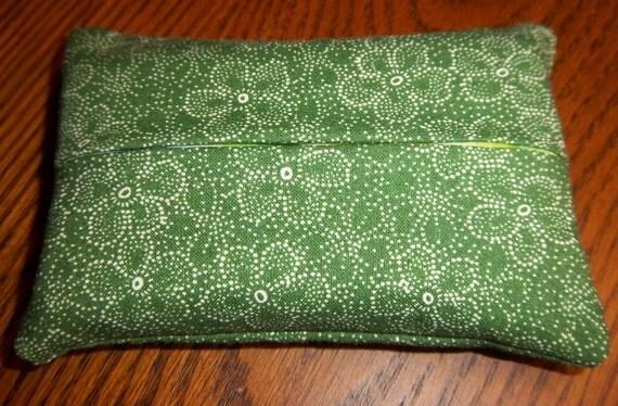 Green Floral Purse Tissue Cozy/Holder