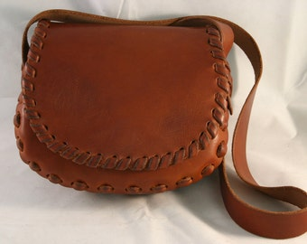 Small Casual Leather Shoulder Bag