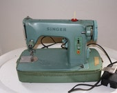RESERVED  SPECIAL 50s Green Singer Sewing Machine