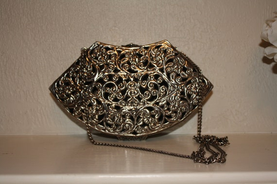 Antique Silver Plated Purse