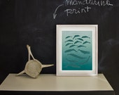 DOLPHINS and WHALES poster - Original ILLUSTRATED Digital Image Download - No. 42