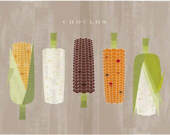 Kitchen Poster - corn - maize - Printable home decor - Kitchen wall art