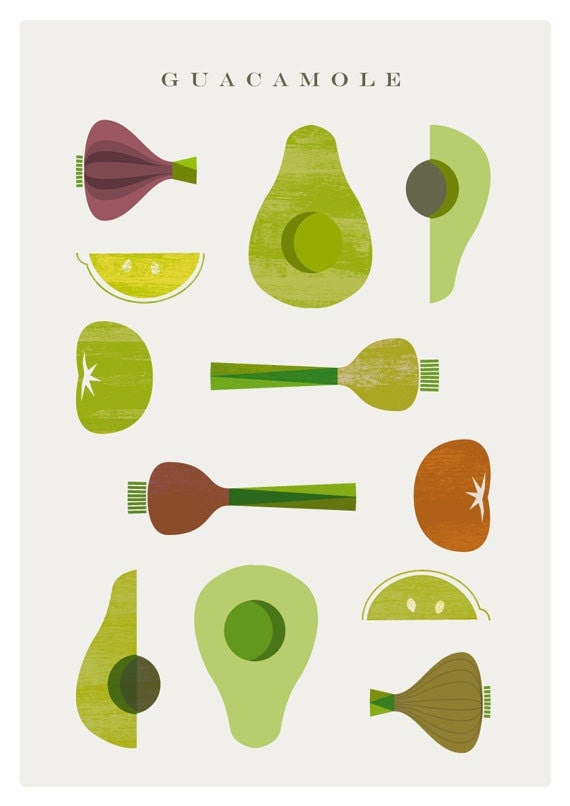 GUACAMOLE poster - Digital Image - Food poster - INSTANT DOWNLOAD