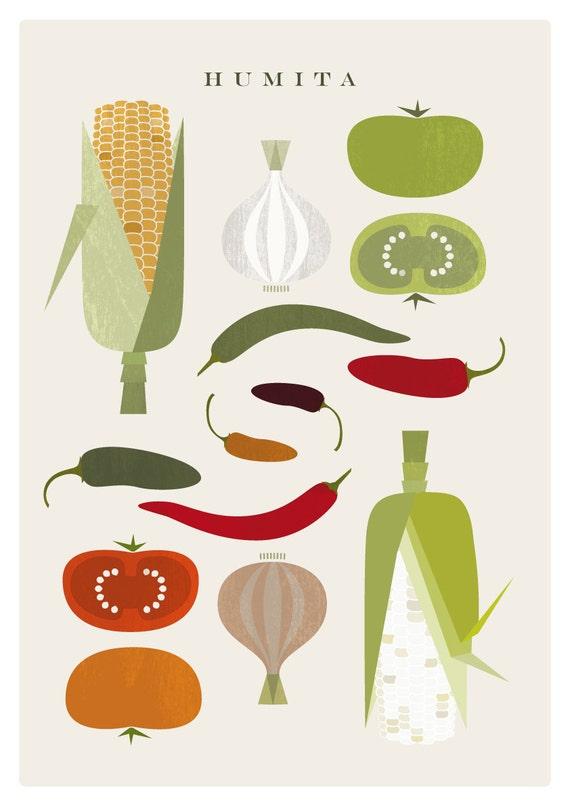 HUMITA food poster - Original ILLUSTRATED Digital Image Download