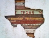 Reclaimed Wood Art - Texas