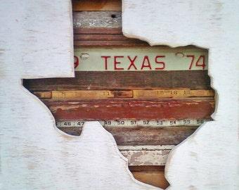 Reclaimed Wood Art - Texas