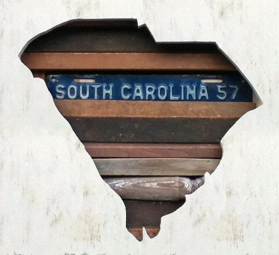 Reclaimed Wood Art - South Carolina