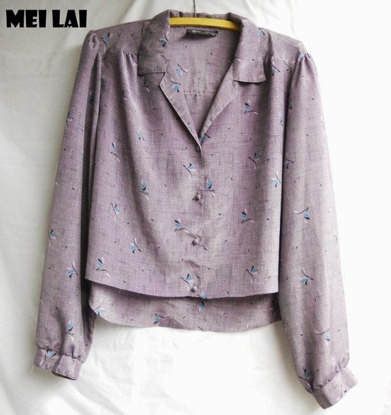 SALE Silk 80s blouse