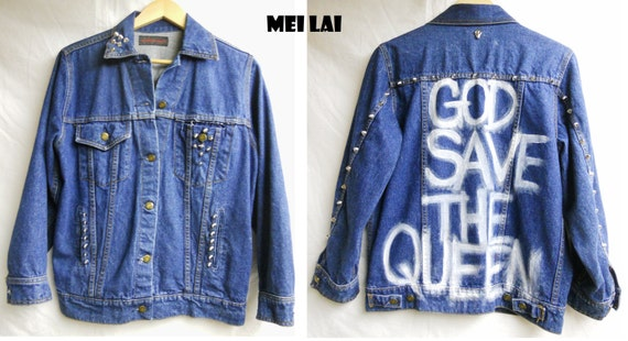 SALE Studded God save the Queen jacket