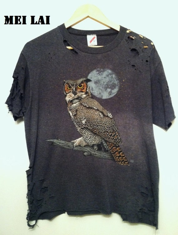 Shredded Owl Tee