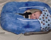 Made for You Infant Baby Carseat Cover Fleece and Flannel You Design, I Make (Car Seat Cover)