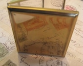 Vintage Brass Mirrored Compact Ready to Embellish