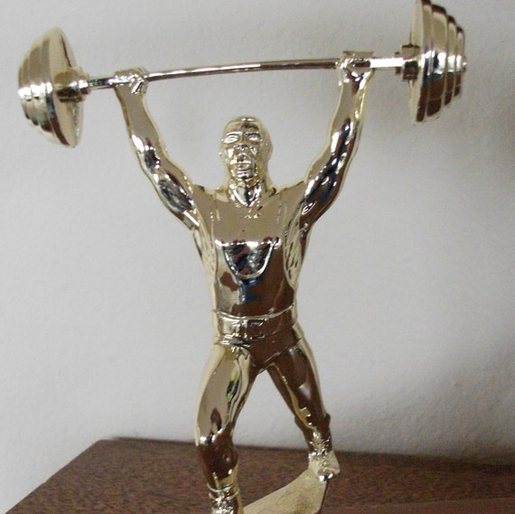 "Weight Lifting Trophy - Strong Man Trophy - - For the ""He Man"" in Your Life"
