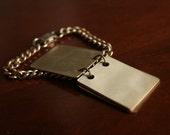 Vintage Monogrammed Notebook Bracelet