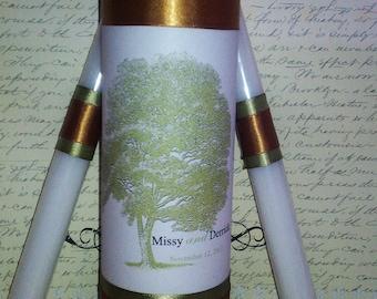 Tree of life Unity candle set