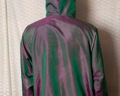 Awesome Iridescent Hooded Windbreaker - Wise Guy