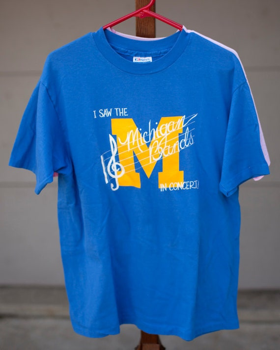I Saw the Michigan Bands in Concert - Vintage U of M Tshirt xl