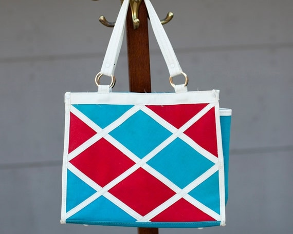 Awesome Women's Red White and Blue Purse Bag